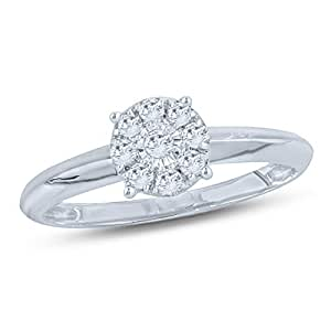 Revere Women's 18k Solid White Gold Fashion Ring