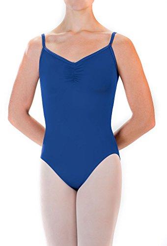 - Motionwear Women's Pinch Front Camisole Leotard L ORANGE