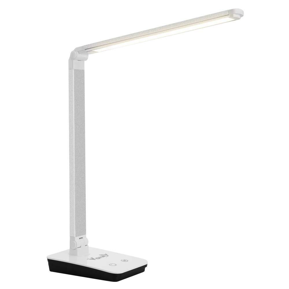 Merisny 12W LED Lampade da tavolo a 4 livelli Touch Dimmer a LED Tavolo pieghevole da tavolo a LED da ufficio portatile Lampada da lettura notturna JPDE0033S(EU)