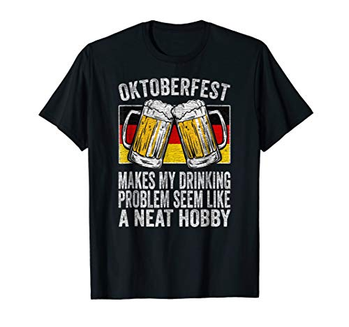 Funny Oktoberfest German Flag Beer Drinking T Shirt -