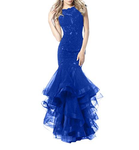 Ballkleider Etuikleider Royal Abendkleider Meerjungfrau Brau Lang Partykleider La mia Blau Festlichkleider Trumpet Jugendweihe Kleider qAwSWaIvZ