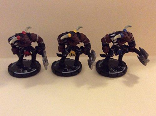 Mage Knight Dungeons Set # 034, 035, & 036 Minotaur Warrior Set