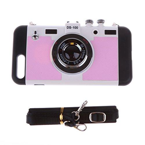 MagiDeal Estuche Bolso Caso Caja de Teléfono Cámara 3D Accesorios Móvil Reproductor de Música Fotografía Duradero Cómodo de Usar Llevar Compacto Ligero - Rosado Rosado