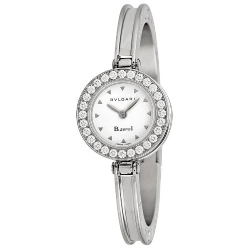 Bvlgari B Zero White Dial Stainless Steel Ladies Watch BZ22WSDS.S