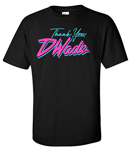 Jersey Wade D (PROSPECT SHIRTS Black Miami D Wade Thank You T-Shirt Adult)