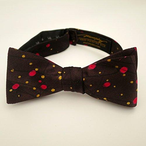 100% Silk Hand-Painted Hand-Made Men's Self Tie Bow Tie ''Constellation'' Art to Wear by Murphyties by Murphyties Inc.