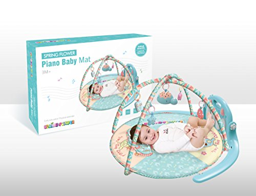 NBD Piano Baby Playmat Kick And Play Piano Gym, Adorable Baby Piano Gym With Soft Pastel Colors For Boys And Girls. For Sale