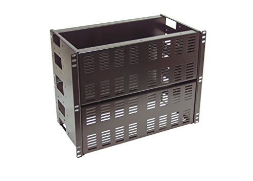 IAenclosures 8U Rackmount multipurpose heavy duty 14 Gauge DUAL Solid and Vented PANELS for 19-inch 2-post or 4-post server rack (DUAL Solid and Vented ()
