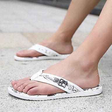 Zapatos de hombre exterior / casual zuecos & Mulas Blanco / Negro y Blanco Blanco y negro
