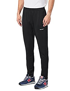 Baleaf Men's Warm-Up Training Sweat Track Pant Zip Open-Bottom