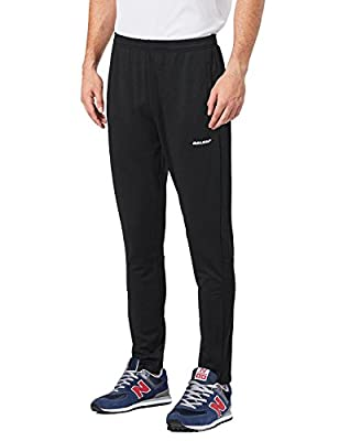 Baleaf Men's Warm-Up Training Sweat Track Pant Zip Open-Bottom