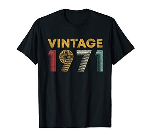 48th Birthday Gift Idea Vintage 1971 T-Shirt Men Women
