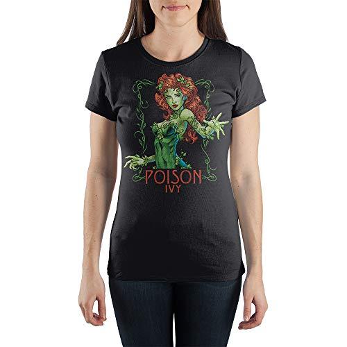 DC Comics Poison Ivy Women's Gray Tee Shirt T-Shirt-X-Large ()