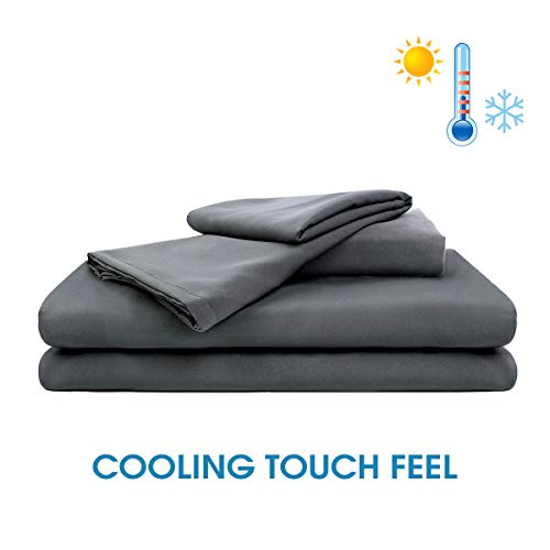 Cheap JML Weighted Blanket Cover Queen Duvet Cover for Weighted Blanket 60x80 - Cool Touch Soft Breathable Cooling Removable Duvet Cover with 2 Pillowcases Black Friday & Cyber Monday 2019