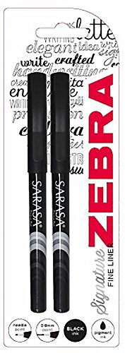 Zebra Sarasa Porous Fine-Liner Pen - Black (Pack of 2) by Zebra Technologies (Image #1)