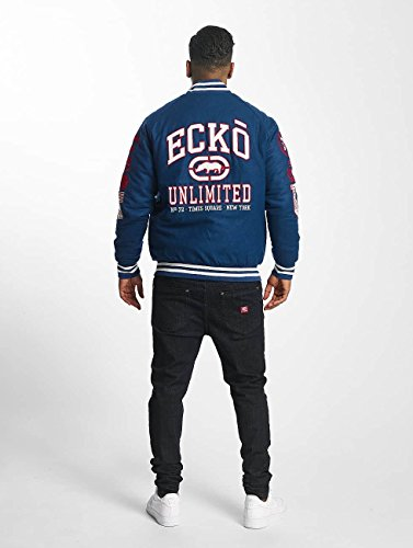 Blu Giacche Uomo Unltd College Ecko Logo giacca Big f10U0q