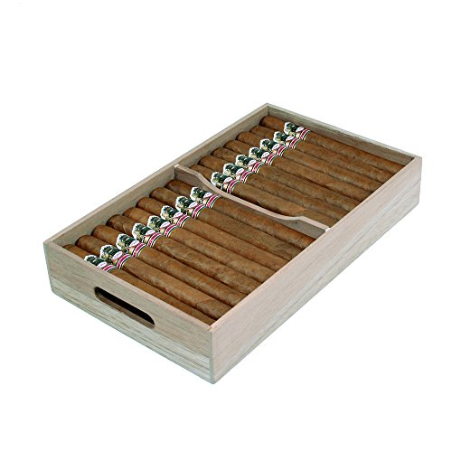 Spanish Cedar Cigar Tray, Adjustable Divider, Fits Large Humidors, Made with Solid Spanish Cedar, by Quality Importers by Spanish Cedar Tray (Image #3)