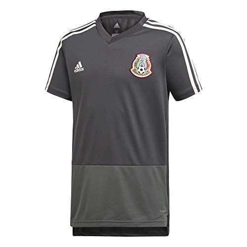 adidas 2018 Mexico Youth Training Jersey- Grey YL