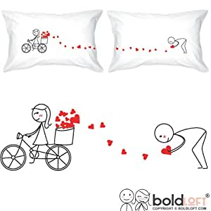 "BOLDLOFT® ""All My Love for You"" Couple Pillowcases-His and Hers Couple Gifts,Valentines Day Romantic Gifts,Valentines Day Gift for Him,Valentines Gift for Boyfriend,His and Hers Pillowcases"
