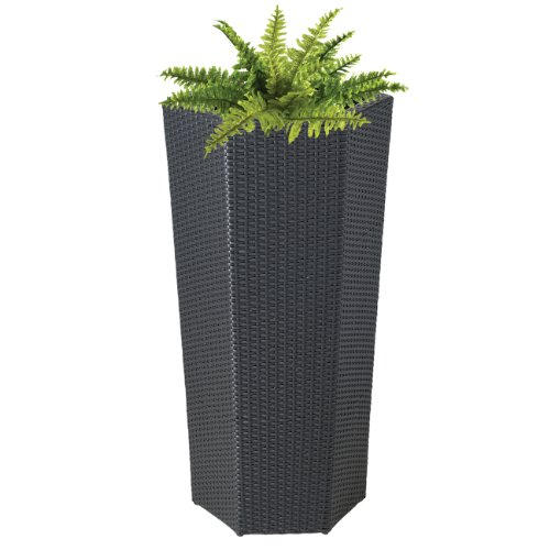 DMC Products 40-Inch Hexagon Resin Wicker Vista Planter from DMC Products