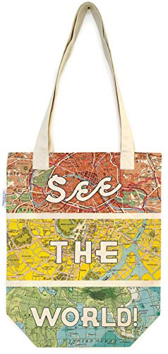 Cavallini & Co. See The World Tote Bag