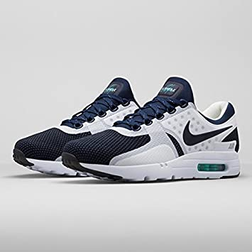 best service a5e21 56575 Nike Air Max Zero QS White Rift Blue Hyper Jade Midnight Navy THE ONE  BEFORE THE 1 (Jade Midnight Navy, UK 8.5)  Amazon.co.uk  Sports   Outdoors