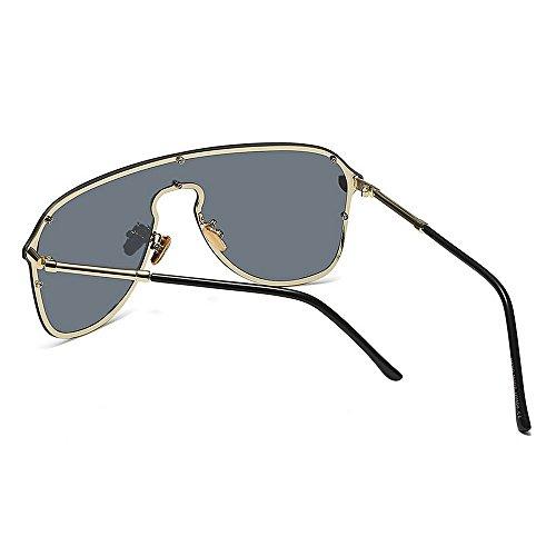 gran conjoined Beach al para marco sol de la protección Gafas aire de las Gu tamaño Summer Peggy de sol conducción Gafas lente de sin vacaciones libre de Cool Azul Negro Color de UV mujeres Aqa8Xcggw