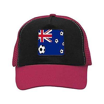 AIMAIMAI Australian Flag Football Hats Fashion Trucker Twill Mesh Adjustable Cap Wine red