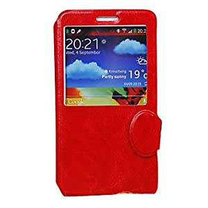 good Crazy Horse lines Skylight Stand Full Body Case for Samsung Galaxy Note 3 N9000 (Assorted Colors) , Black