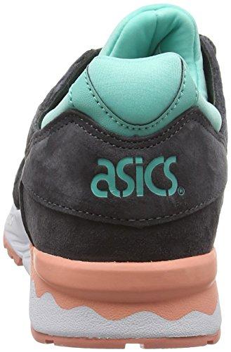 Leren Damessneakers Van Asics Grijs