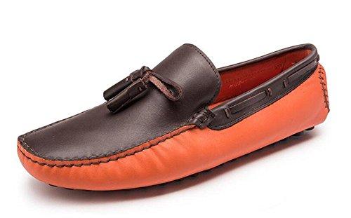 Männer Slip-On Oxford Schuhe Sommer Hosen Schuhe Breathable Leder echte Fahrschuhen Weiche Leder Flats Casual Schuhe , yellow , 38