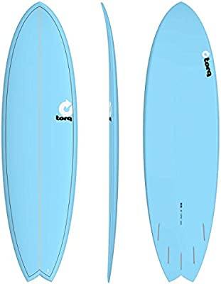 TORQ Tabla de Surf epoxy Tet 6.6 Fish Blue: Amazon.es ...