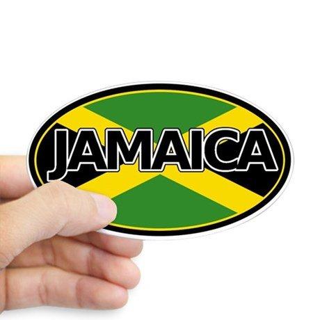 Amazon com jamaica jamaican flag car bumper sticker decal oval automotive