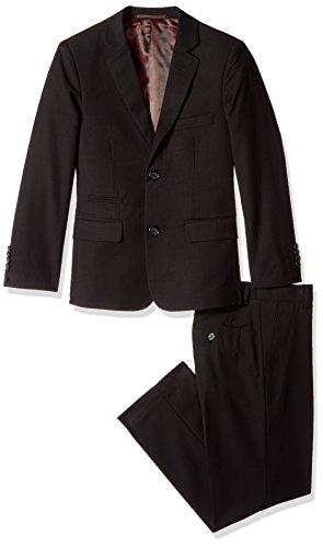 Isaac Mizrahi Big Boys' 2Pc Slim Cut Wool Blend Suit, Black, (14h Set)