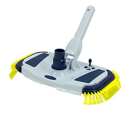 COMPETITION POOL ACCESS In-Ground & Above Ground Swimming Pool Weighted Vacuum Head w/Side Brushes