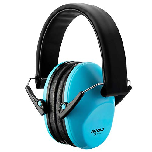 Mpow 068 Kids Ear Protection, NRR 25dB Noise Reduction Ear Muffs, Toddler Ear Protection, Protective Earmuffs for Shooting Range Hunting Season, for Toddlers Kids Children Teens-Blue