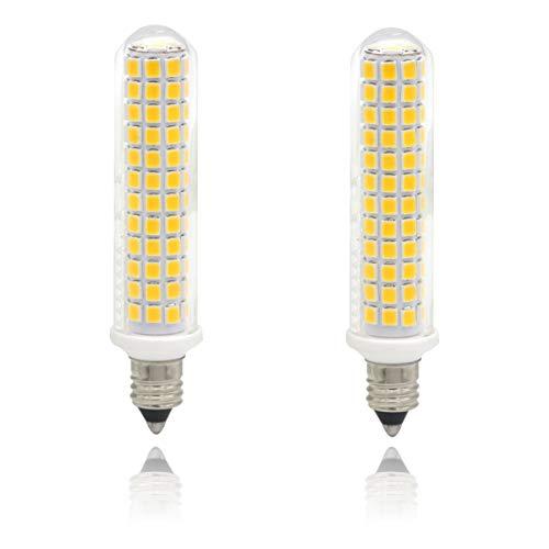 E11 led Light Bulbs 100W, Jd t4 e11 Mini Candelabra Base 120V 100w Halogen Bulbs Replacement, Pack of 2 (Warm White 3000K)