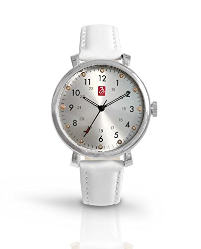 Prestige Medical Melrose Premium Watch, Silver With White Band