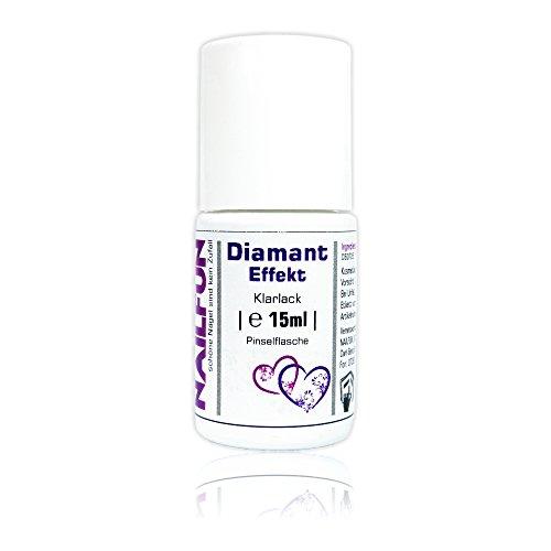 Diamant Effekt Klarlack (Topcoat) brilliant-funkelnd 15ml Pinselflasche