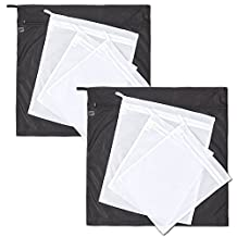 Set of 8 Laundry Bags, EZOWare Delicates Premium Quality Mesh Durable Double Layer Laundry Wash Bag for Delicates, Underwear, Hosiery, Shoes, Plush, Chair Pads, Car Mats, and More