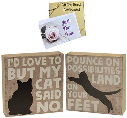 Amazon.com: JB Products Shop - Letrero de madera para gatos ...