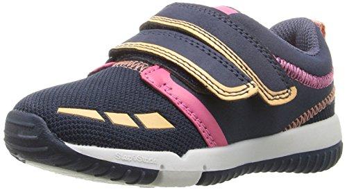 Step & Stride Warwick Sneaker (Infant/Toddler/Little Kid), Navy/Pink, 7.5 M US Toddler