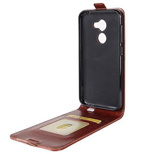 OFU® Para Vodafone Smart N8 Funda,PU Hybrid Card Carry Pocket Wallet Slot,Cartera Cuero Funda de Piel Wallet Case para Vodafone Smart N8 Carcasa Flip Case Cover(marrón) marrón