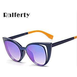 Ralferty 2017 Luxury Brand Designer Cat Eye Sunglasses