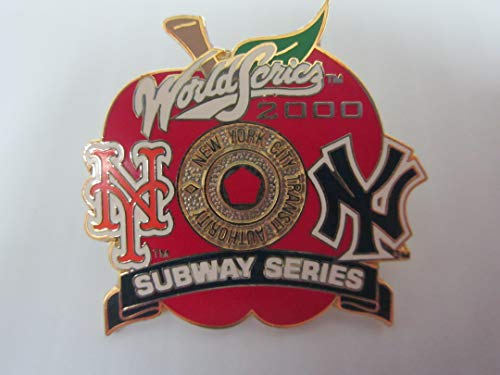 2000 Subway Series Yankees Mets BIG APPLE World Series COLLECTORS PIN #6 SOLD OUT ISSUE!!