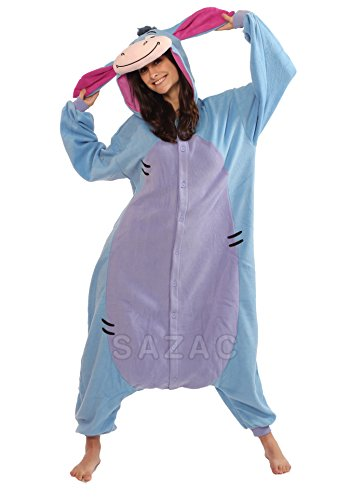 $69.00 (as of Aug 13 2018 606 am) u0026 FREE Shipping.  sc 1 st  Funtober & Eeyore Kigurumi - Adults Costume - Funtober