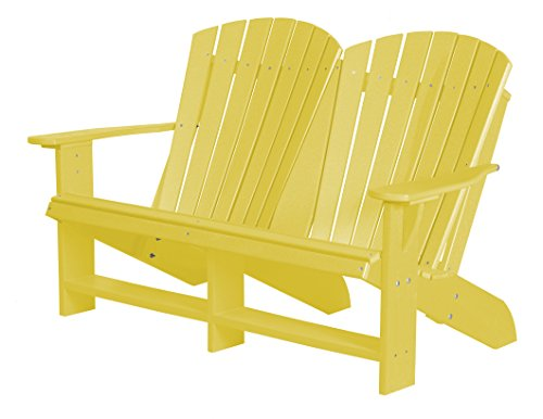 (Little Cottage Company Heritage Double Adirondack, Lemon Yellow)