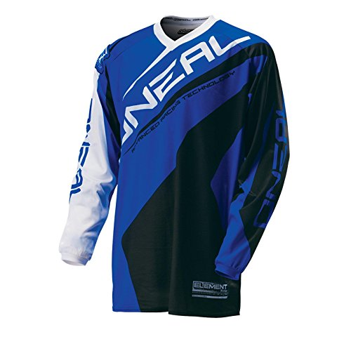 O'Neal Element MX Cross Jersey RACEWEAR Blau Motocross Enduro Downhill Trikot Cross Motorrad, 0024R-01, Größe M