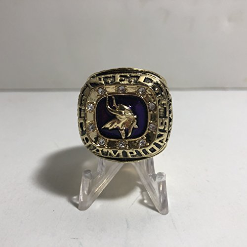 1974 Head Coach Bud Grant Minnesota Vikings High Quality Replica 1974 NFC Championship Ring Size 10 to 10.5-Gold Color US SHIPPING (Ring Vikings Minnesota)