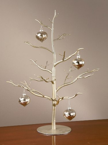 Modern Home Decor Ornament Hanging Tree, Jewelry and Accessory Display in Silver Finish - 26''h